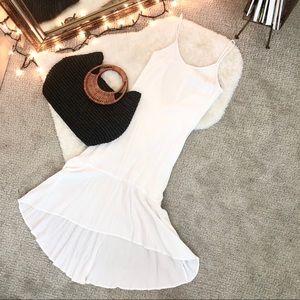 Lulu's White Low Back Sundress